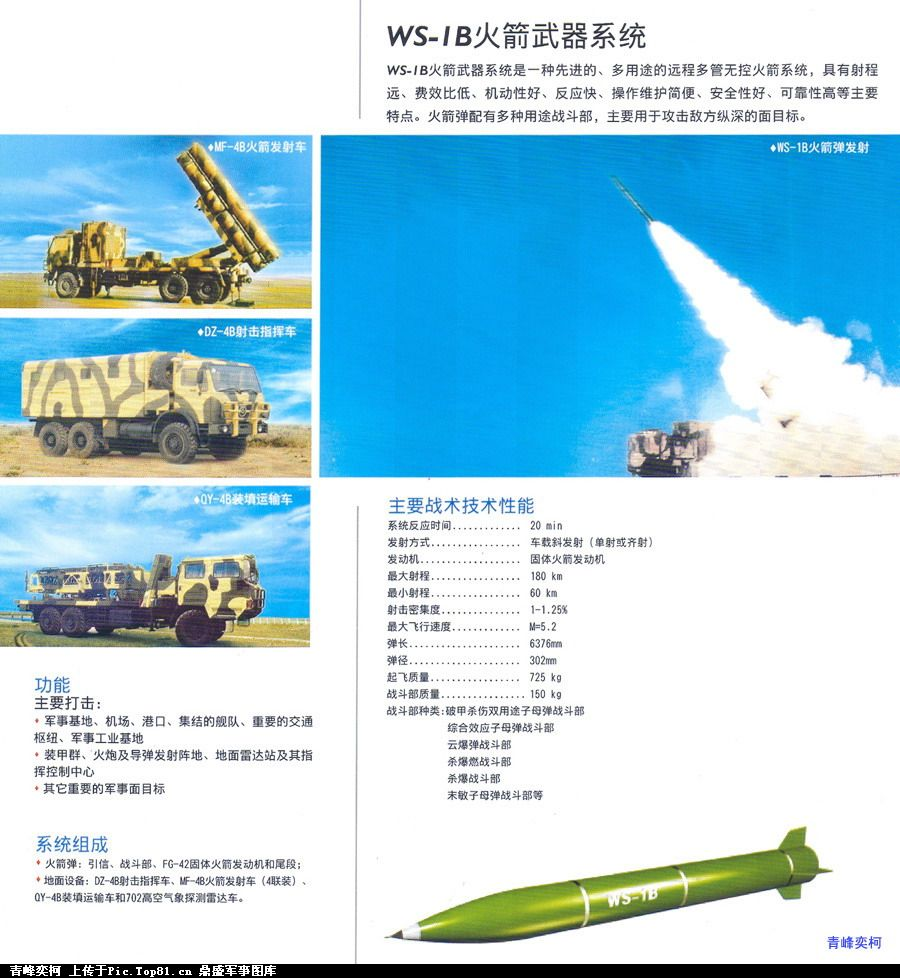 Chinese WS-1B brochure